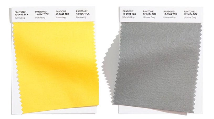 illuminating and ultimate gray pantone swatches for color of the year 2021