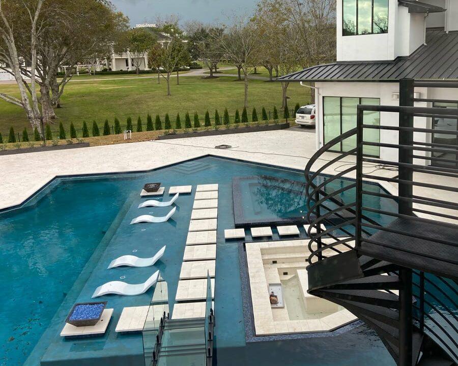 custom pool for paradise in houston home