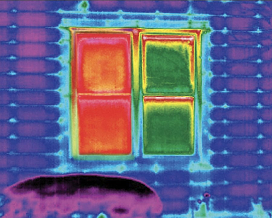 close up of windows with and without insulated shades in houston TX