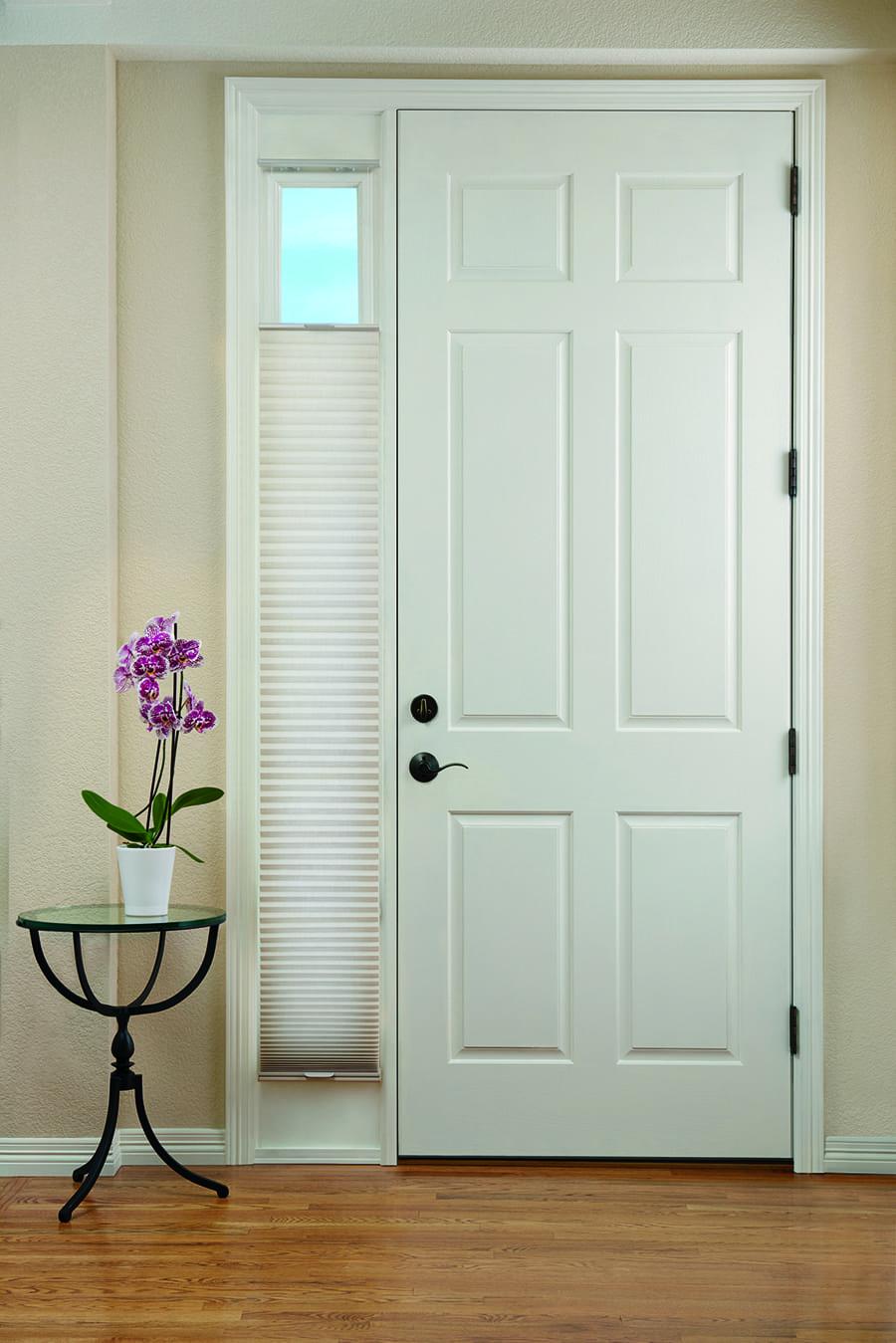 Duette® Honeycomb Shades for entryway door