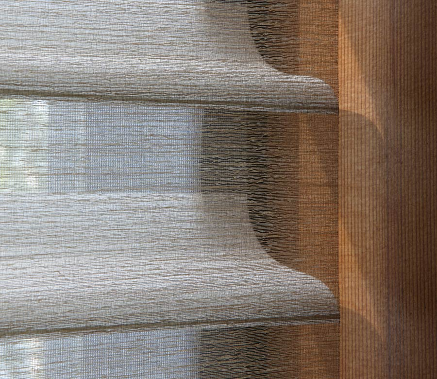close up of fabric dual shades in houston TX home