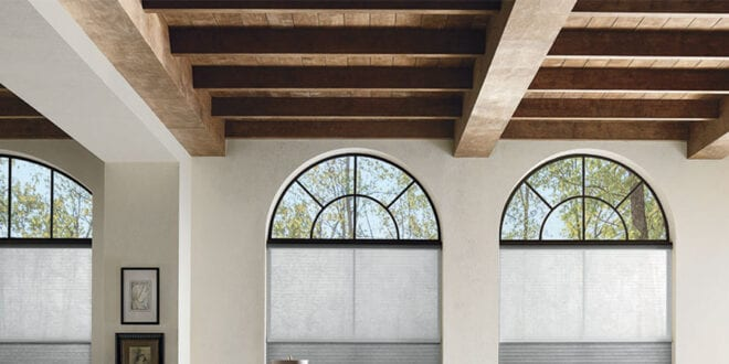 how to cover tricky windows in Houston home