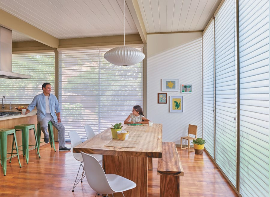 Nantucket™ Window Shades in a dining room