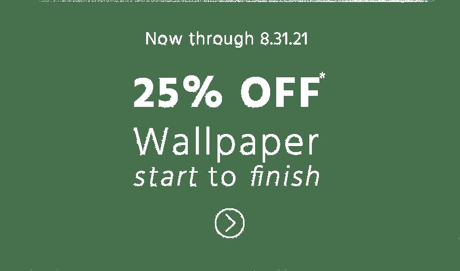 25% off wallpaper