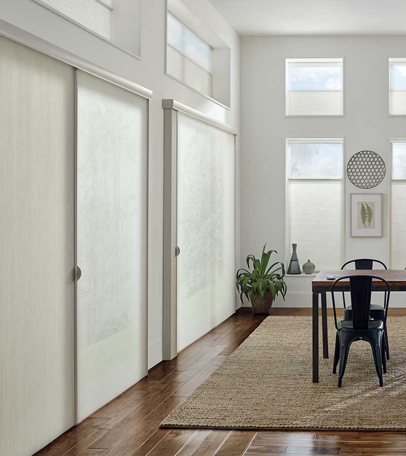 floor to ceiling dual opacity privacy sheers in Magnolia, 77354