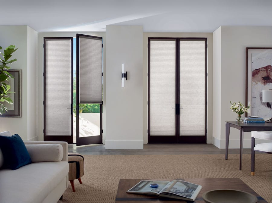 trackglide shades for covering french door glass in Memorial TX