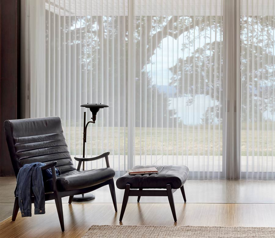 best window treatments for large windows vertical shades houston TX