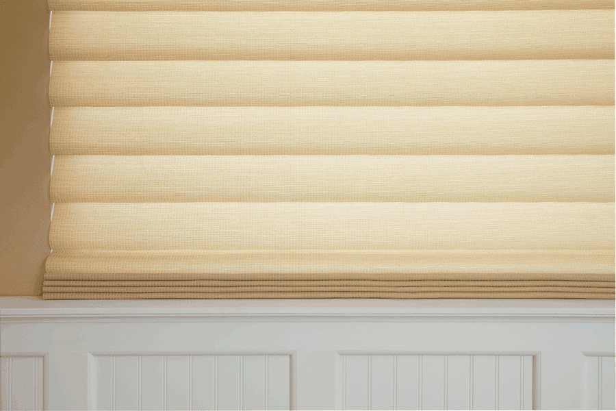 fabrics from the roman shades collection will cut the glare in your Baybrook TX home