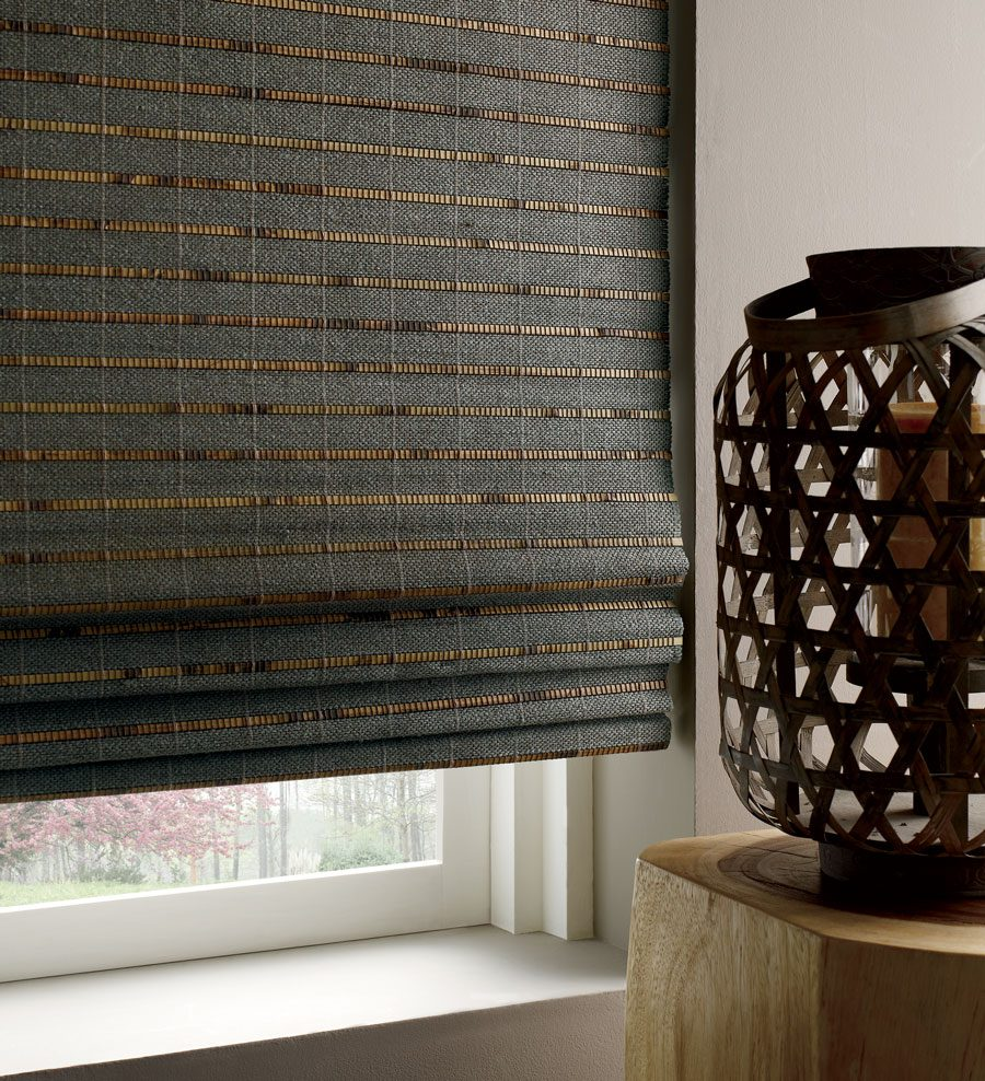 dark fabrics for woven wood shades in the woodlands, TX