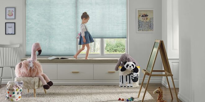 child bedroom with safe window coverings